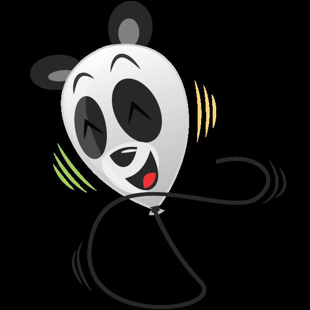 Panda Balloons messages sticker-2
