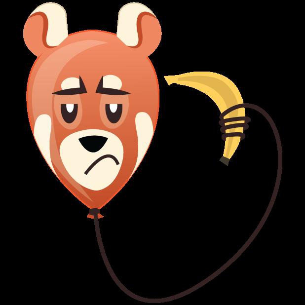 Panda Balloons messages sticker-10