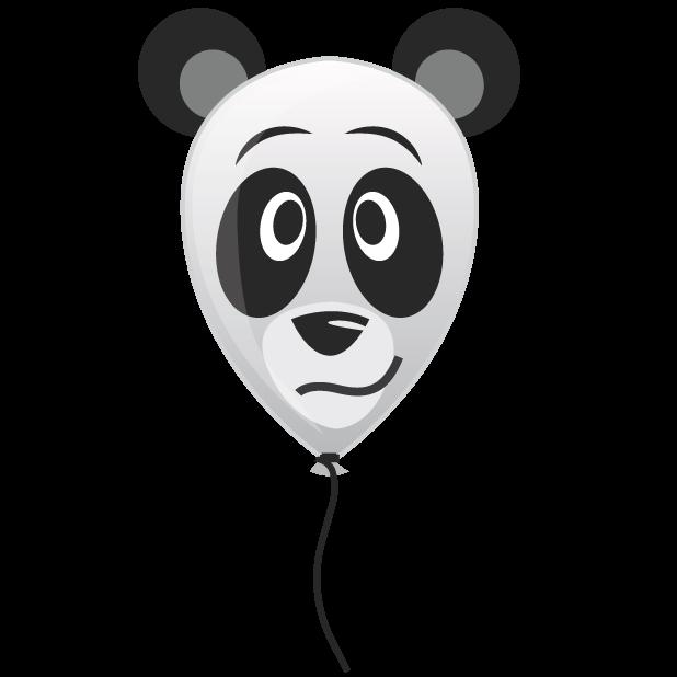 Panda Balloons messages sticker-0