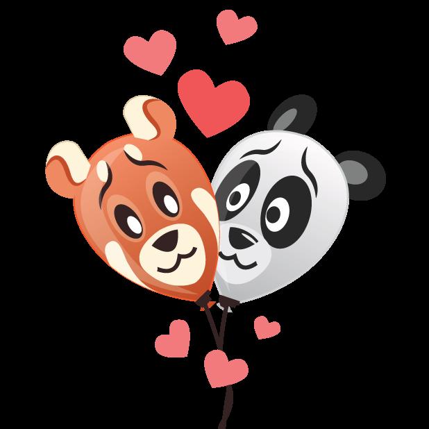 Panda Balloons messages sticker-1