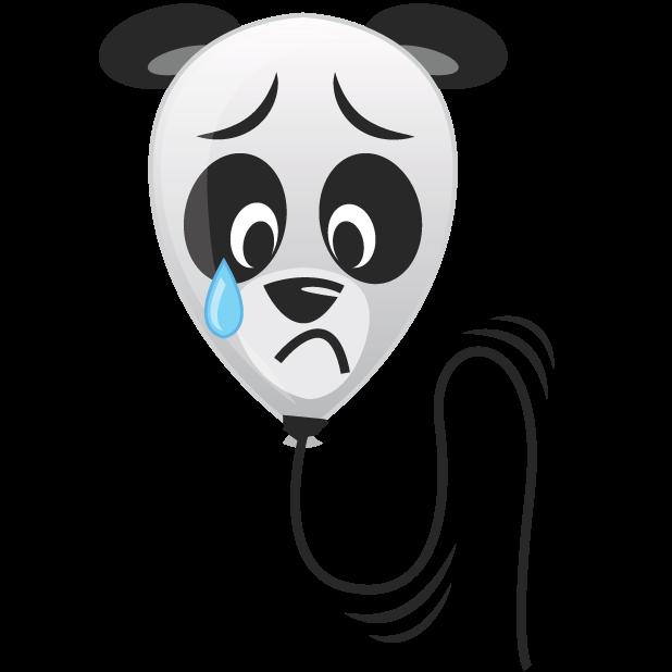 Panda Balloons messages sticker-8