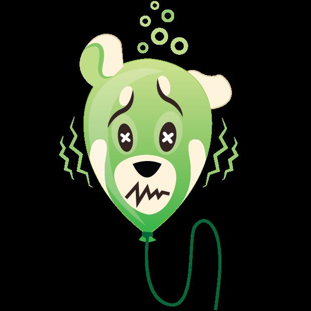 Panda Balloons messages sticker-9