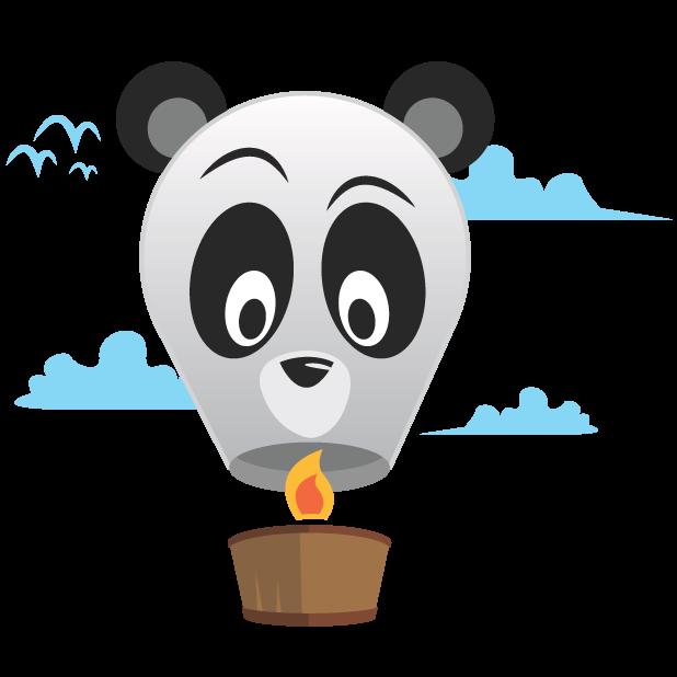 Panda Balloons messages sticker-11