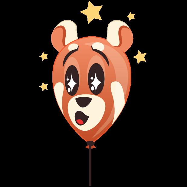 Panda Balloons messages sticker-7