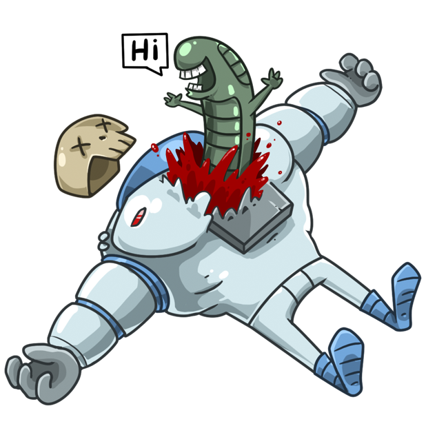 Lone Dead Spaceman messages sticker-7