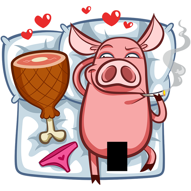Pete The Pig messages sticker-1