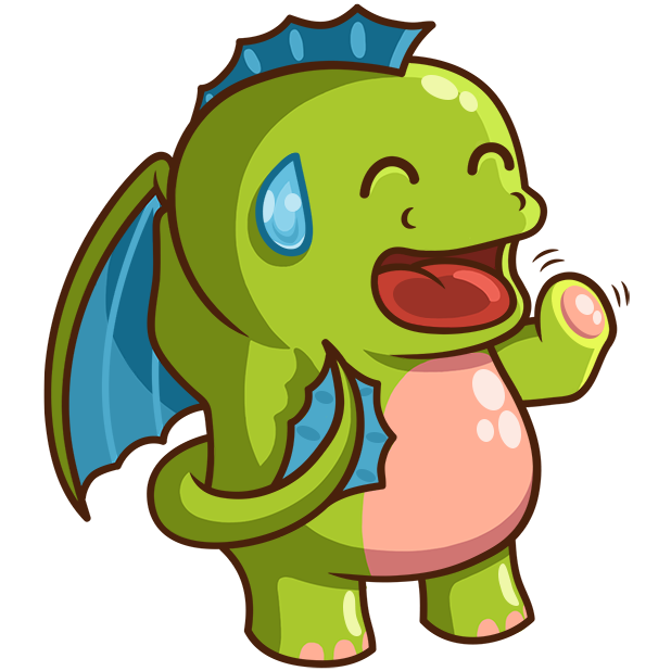 Sparky the Dragon messages sticker-9
