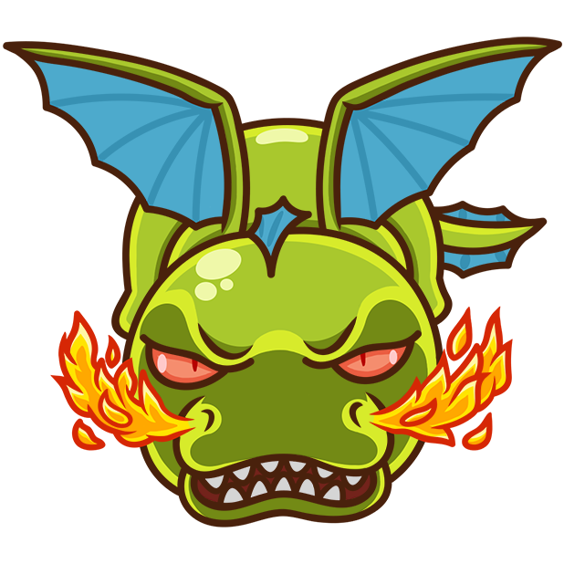 Sparky the Dragon messages sticker-4