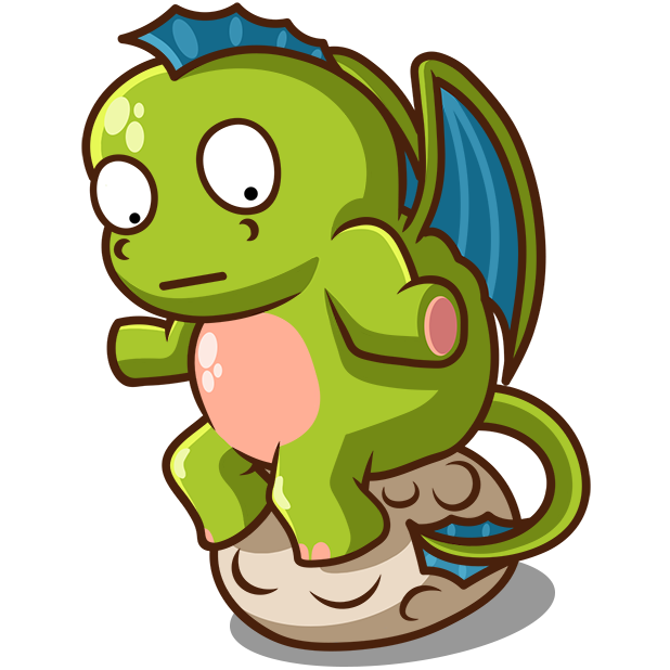 Sparky the Dragon messages sticker-7