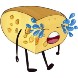 Cheese Stickers stickers by Hasan messages sticker-7