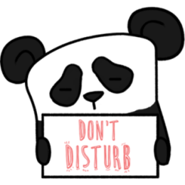 The Lazy Panda stickers by Hazal for iMessage messages sticker-6