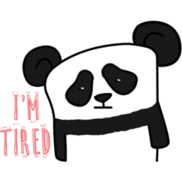 The Lazy Panda stickers by Hazal for iMessage messages sticker-4