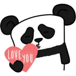 The Lazy Panda stickers by Hazal for iMessage messages sticker-0