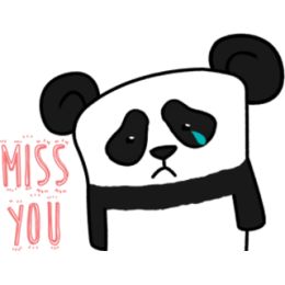 The Lazy Panda stickers by Hazal for iMessage messages sticker-2