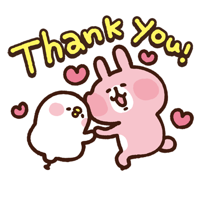 "Kanahei's Small animals, ""Piske & Usagi"" messages sticker-4"
