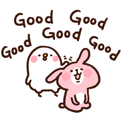 "Kanahei's Small animals, ""Piske & Usagi"" messages sticker-10"