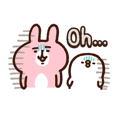 "Kanahei's Small animals, ""Piske & Usagi"" messages sticker-11"