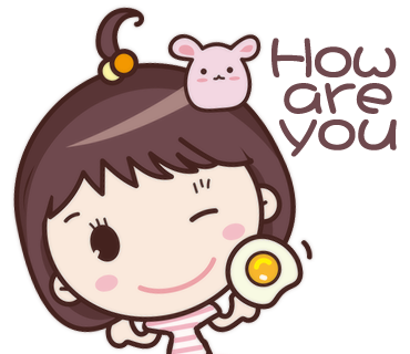Yolk Girl Sticker - Cute Message Sticker Emoji messages sticker-6