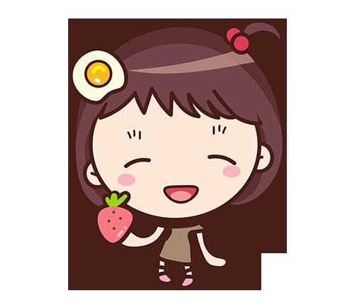 Yolk Girl Sticker - Cute Message Sticker Emoji messages sticker-0