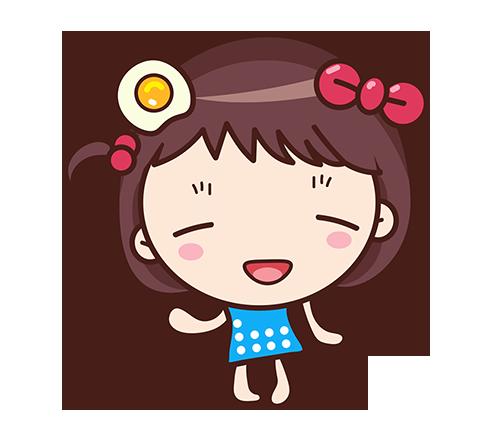 Yolk Girl Sticker - Cute Message Sticker Emoji messages sticker-8