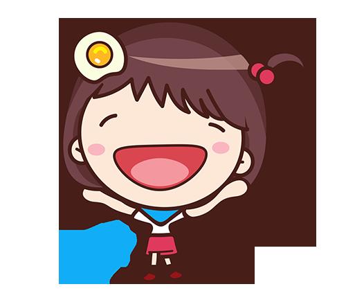 Yolk Girl Sticker - Cute Message Sticker Emoji messages sticker-10