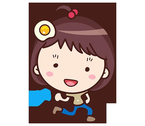 Yolk Girl Sticker - Cute Message Sticker Emoji messages sticker-5