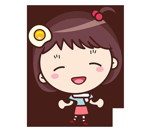 Yolk Girl Sticker - Cute Message Sticker Emoji messages sticker-6