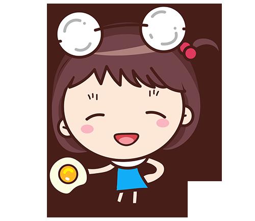 Yolk Girl Sticker - Cute Message Sticker Emoji messages sticker-4
