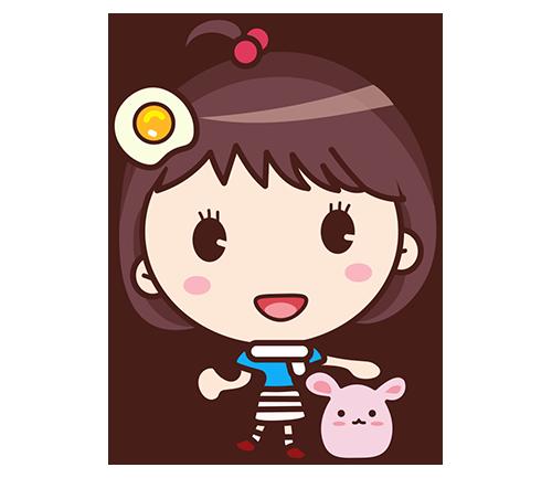 Yolk Girl Sticker - Cute Message Sticker Emoji messages sticker-2