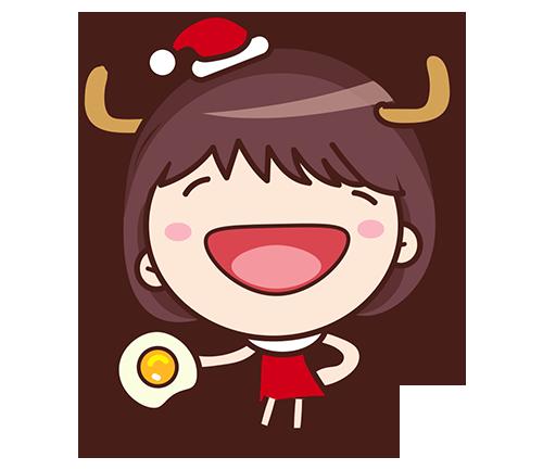 Yolk Girl Sticker - Cute Message Sticker Emoji messages sticker-3