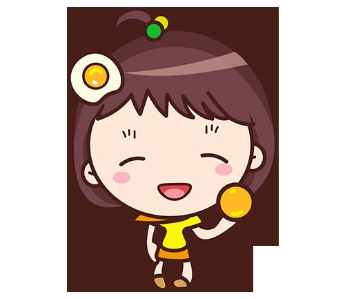 Yolk Girl Sticker - Cute Message Sticker Emoji messages sticker-11