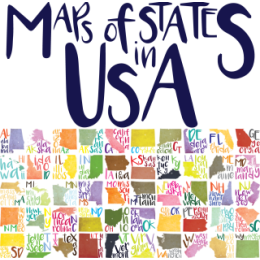 Maps of States in U.S.A. stickers for iMessage messages sticker-0