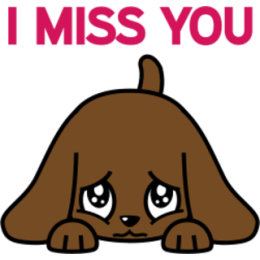 Miss Muddy Puppy stickers for iMessage messages sticker-6