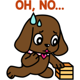Miss Muddy Puppy stickers for iMessage messages sticker-7