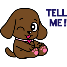 Miss Muddy Puppy stickers for iMessage messages sticker-8