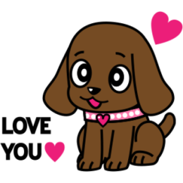 Miss Muddy Puppy stickers for iMessage messages sticker-0