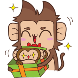 Juppy The Monkey - 1 stickers by Animal Retard messages sticker-3