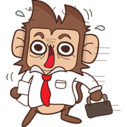 Juppy The Monkey - 1 stickers by Animal Retard messages sticker-0