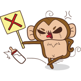 Juppy The Monkey - 1 stickers by Animal Retard messages sticker-1