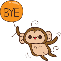 Juppy The Monkey - 1 stickers by Animal Retard messages sticker-6