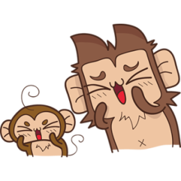 Juppy The Monkey - 1 stickers by Animal Retard messages sticker-9