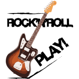 Rock'n'roll Guitars stickers by drop sound messages sticker-8