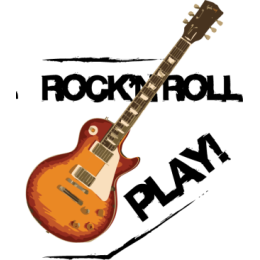 Rock'n'roll Guitars stickers by drop sound messages sticker-3