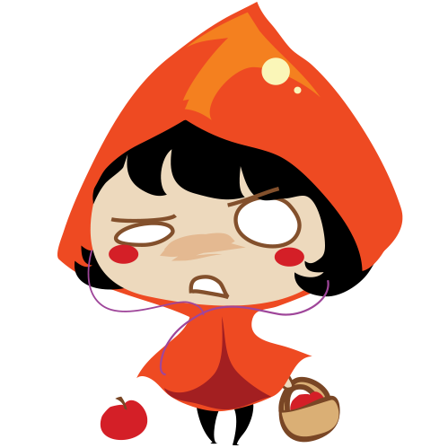 Red Riding Hood Stickers messages sticker-4