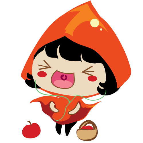 Red Riding Hood Stickers messages sticker-1