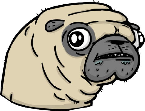 Pugly - Ugly Pugs messages sticker-1