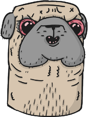 Pugly - Ugly Pugs messages sticker-3