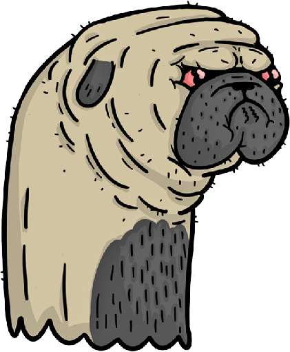 Pugly - Ugly Pugs messages sticker-4