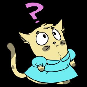 Emoji World: Sammy The Confused Cat messages sticker-4