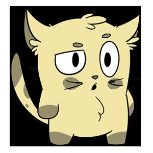 Emoji World: Sammy The Confused Cat messages sticker-0